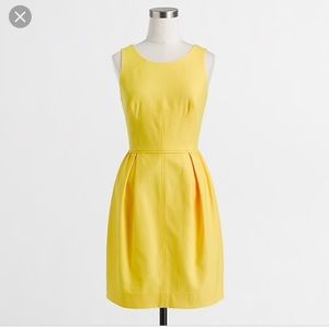 J.Crew Yellow Textured cotton Dress